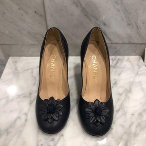 Chanel Navy Heels